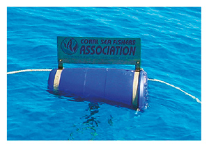 Coral Sea collectors  install their own moorings to minimise the risk of anchor damage.
